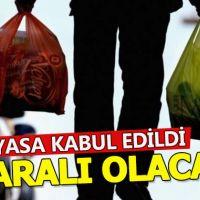 Plastik poşetlerde paralı dönem düzenlemesi Meclis'ten geçti