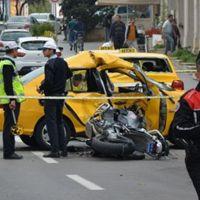 Polislerin korkutan kazası!
