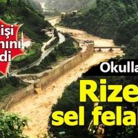Rize'de sel felaketi can aldı - Rize'de okullar tatil mi bugün okul var mı?