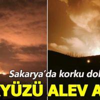 Sakarya'da korkutan patlama! Gökyüzünü alevler sardı!