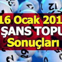 Şans Topu çekiliş sonuçları 16 Ocak 2019 | MPİ 5+1 çekilişi kupon sorgulama ikramiye tutarı