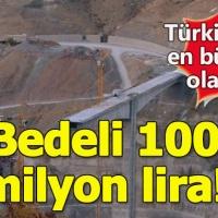 Siirt'te Türkiye'nin en büyük konsol viyadüklü asma köprüsü yapılıyor