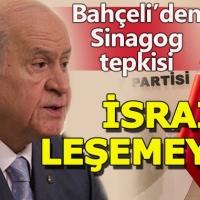 Sinagog protestosuna Devlet Bahçeli'den sert tepki