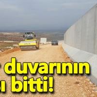Sınır duvarının yarısı tamamlandı