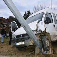 Sinop'ta 2 minibüs çarpıştı: 14 yaralı
