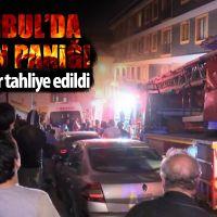 Şişli'de 9 katlı binada yangın paniği