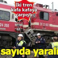 Sivas'ta korkunç kaza! Yolcu treni ile yük treni kafa kafaya çarpıştı: Çok sayıda yaralı var