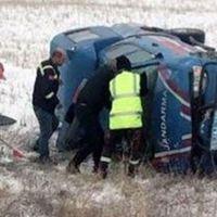 Sivas'ta askeri araç devrildi: 5 asker yaralı