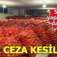 Soğan stokçularına ilk ceza Mardin'de kesildi