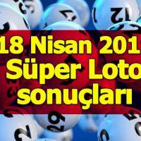 18 Nisan 2019 Süper Loto sonuçları | MPİ bu haftaki süper loto çekiliş neticesi