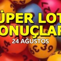Süper Loto Sonuçları açıklandı (24 Ağustos )