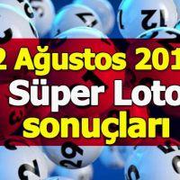 2Ağustos Süper Loto çekiliş sonuçları açıklandı - 2018 Süper Loto ikramiyesi ne kadar - Milli Piyango İdaresi
