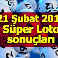Süper Loto sonuçları 21 Şubat 2019 | Milli Piyango İdaresi Süper Loto çekilişi ikramiye tutarı