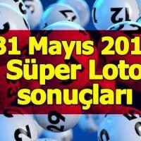 Süper Loto sonuçları 31 Mayıs 2018 - Süper Loto ikramiyesi ne kadar - Milli Piyango İdaresi