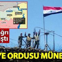 Suriye ordusu Münbiç'e bayrak dikti