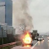 TEM Otoyolu'nda yangın