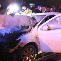 TEM'de sabah saatlerinde feci kaza