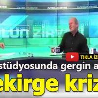 TRT ekranlarında gergin anlar! Levent Özçelik ve Mustafa Denizli arasında 'çekirge' krizi!