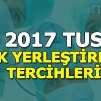 TUS 2017 ek yerleştirme tercihi - Tıpta Uzmanlık giriş sınavı bahar dönemi tercihleri