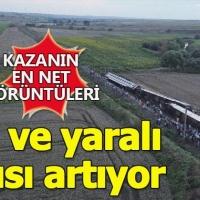 Tekirdağ Çorlu'daki tren kazasının havadan çekilen görüntüleri