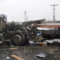 Tekirdağ'da 2 TIR çarpıştı: Bir kişi ağır yaralı