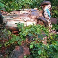 Trabzon'da uçurumda kaza