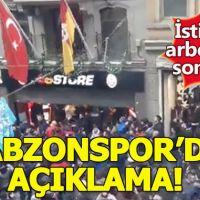 Trabzonspor'dan Galatasaray'a özür mesajı