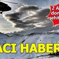 Tunceli'de 2 askerimiz donarak şehit oldu!