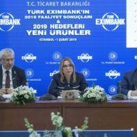 Türk Eximbank 2019'da ihracat desteğinde büyük pay sahibi olacak