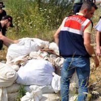 Uşak'ta son 6 yılda ele geçirilen uyuşturucular yakıldı