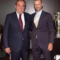 Yıldırım Demirören'den UEFA Başkanı'na ziyaret