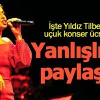 Yıldız Tilbe'nin yanlışlıkla konser ücretlerini paylaşması