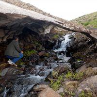 Ardahan ve Artvin'nde yükseklerdeki karın erimesi görsel şölene dönüşüyor