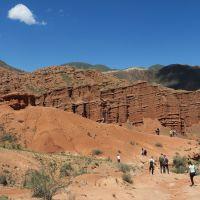 Kırgızistan'daki Konorçok Kanyonu'na turist ilgisi artıyor