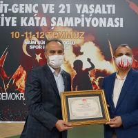 """Ümit, Genç ve 21 Yaş Altı Türkiye Karate """"Kata"""" Şampiyonası sona erdi"""