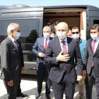 Ulaştırma ve Altyapı Bakanı Karaismailoğlu, Honaz Tüneli'nde incelemelerde bulundu: