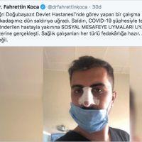 Bakan Koca'dan saldırıya uğrayan sağlık çalışanına destek: