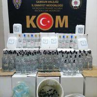 Samsun'da 142 şişe sahte bandrollü içki ele geçirildi