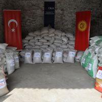 TİKA'dan, Kırgızistan'da çiftçilere tohum ve gübre yardımı