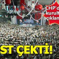 CHP Genel Merkezi kurultay restini çekti