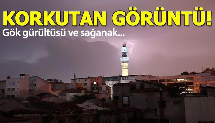 İstanbul'da sağanak yağmur etkili oluyor