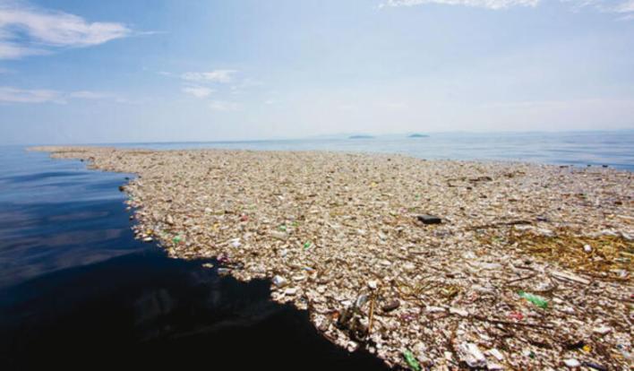 Pasifik okyanusu'nda çöpten bir ada