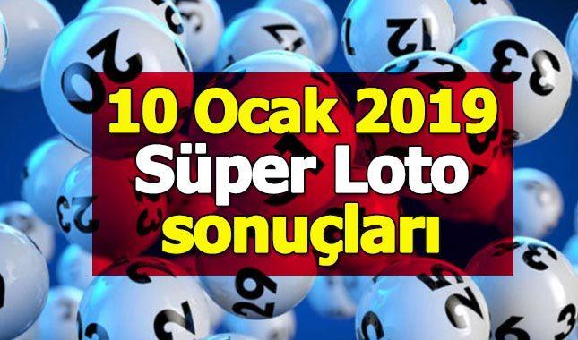 10 Ocak 2019 Süper Loto çekiliş sonuçları | Milli Piyango İdaresi süper loto ikramiye tutarı bilet sorgulama