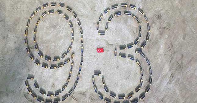 108 kamyonla 29 Ekim kareografisi