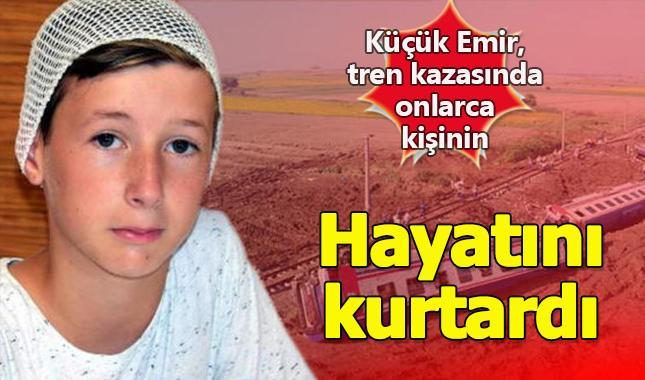 11 yaşındaki Emir, Çorlu'daki tren kazasında onlarca kişinin hayatını kurtardı