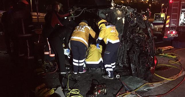 15 Temmuz Şehitler Köprü yolu üzerinde 2 kaza