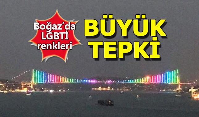 15 Temmuz Şehitler Köprüsü'ndeki aydınlatma tepki çekti