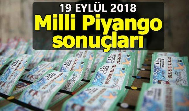 19 Eylül 2018 Çarşamba Milli Piyango çekiliş sonuçları - MPİ bilet sorgulama amorti ikramiye numaraları sıralı tam liste