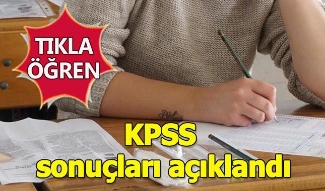 2018 KPSS Ortaöğretim sonucu öğren sorgulama ÖSYM KPSS sonuç sorgulama sistemi