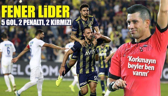 5 gollü maçı kazanan Fenerbahçe lider